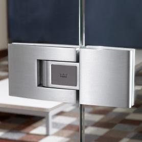 Установка петлей Tensor Dorma для маятниковых дверей